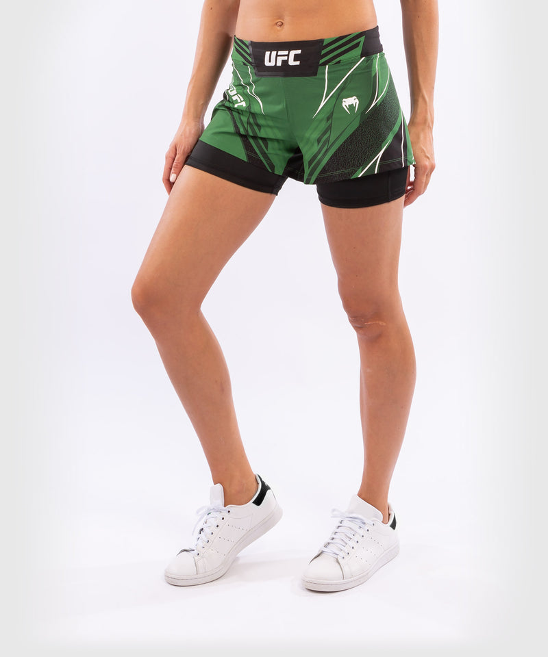UFC Venum Authentic Fight Night Women's Shorts - Short Fit – Green Picture 3