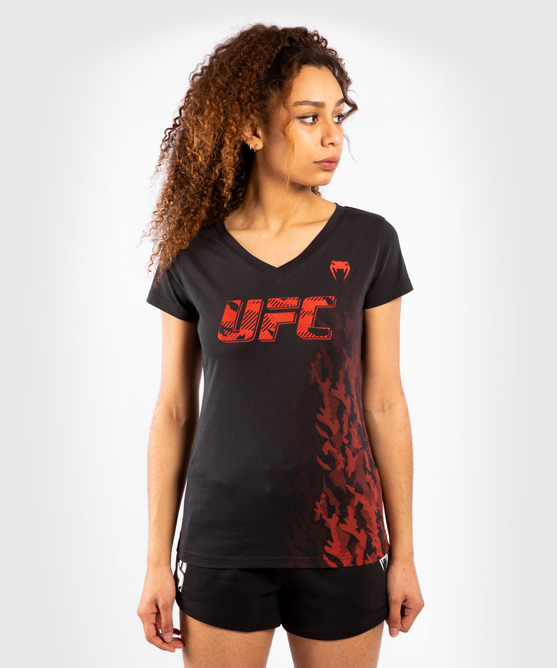 UFC Venum Authentic Fight Week Women's Short Sleeve T-shirt – Black Picture 1