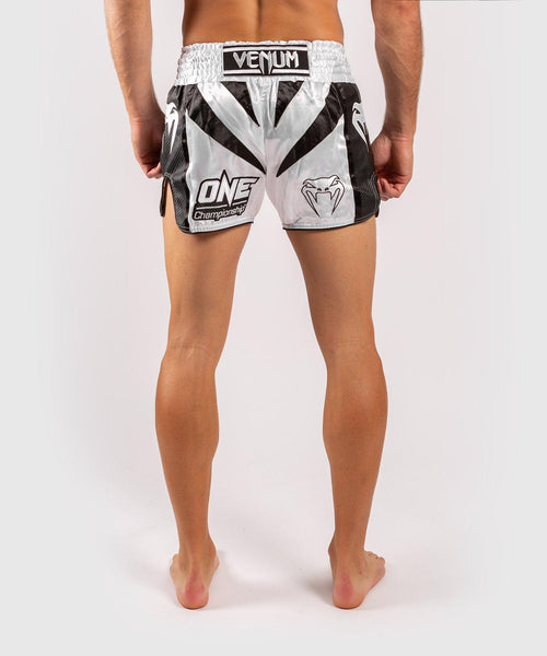 Venum x ONE FC Muay Thai Shorts - White/Black picture 2