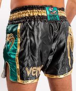 Venum WBC Muay Thai Shorts - Black/Green - Picture 7