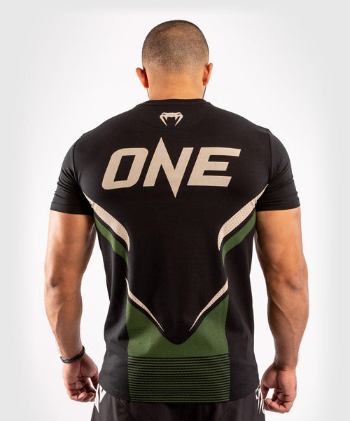 Venum ONE FC Impact T-shirt - Black/Khaki - picture 2