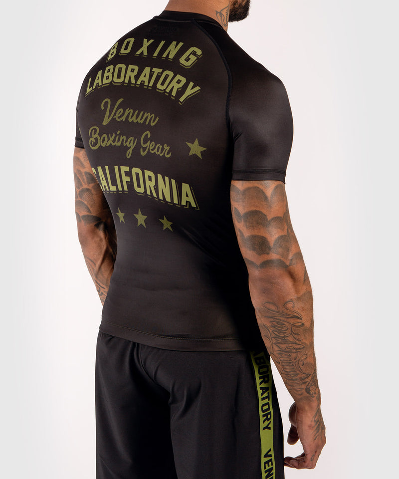 Venum Boxing Lab Rashguard - Short sleeves - Black/Green picture 4