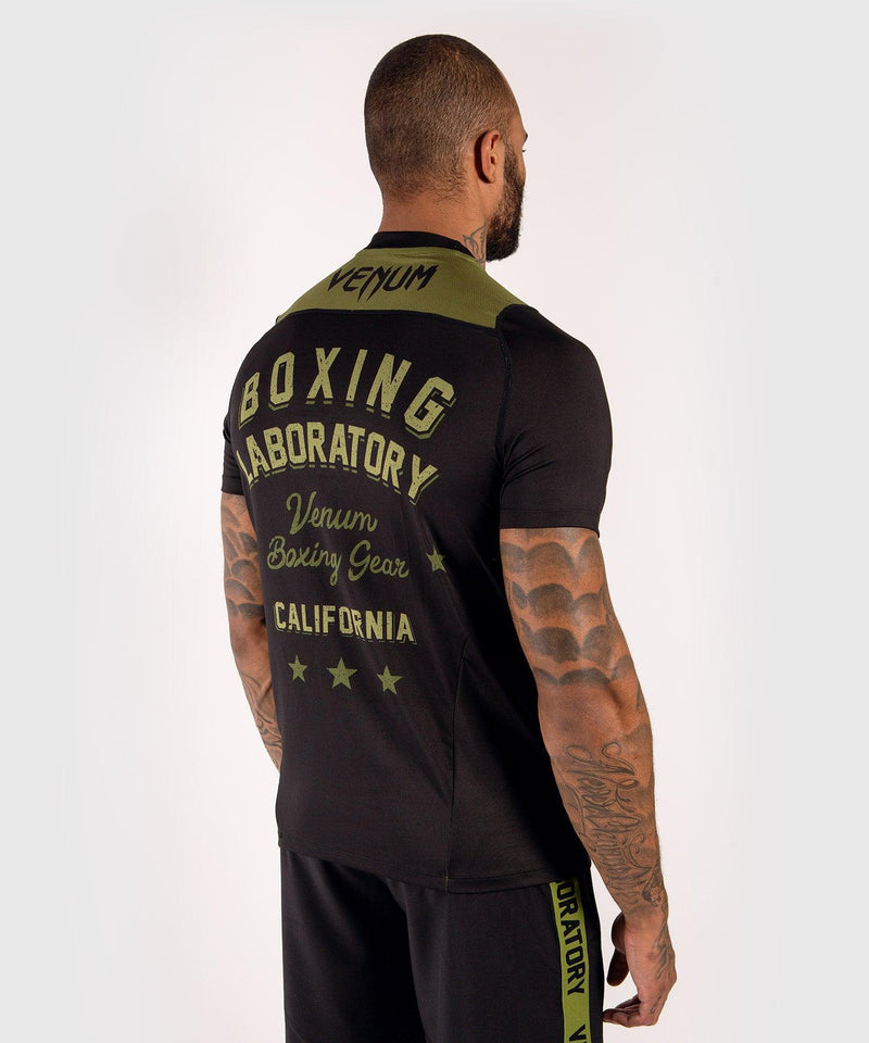 Venum Boxing Lab Dry Tech T-shirt - Black/Green picture 4