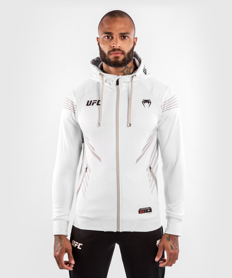 UFC Venum Authentic Fight Night Men's Walkout Hoodie – White Picture 1