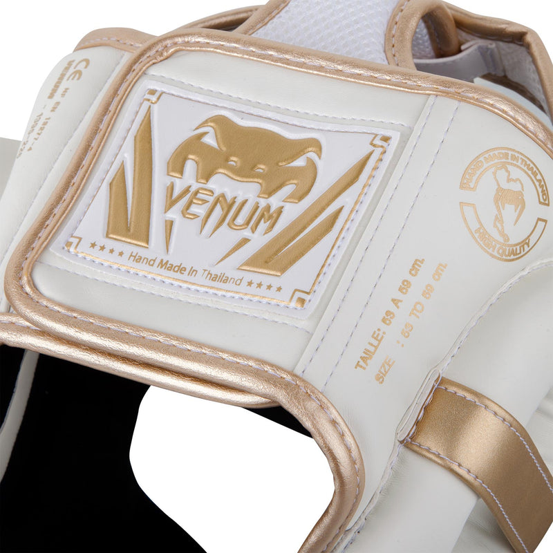 Venum Elite Headgear-White/Gold picture 4