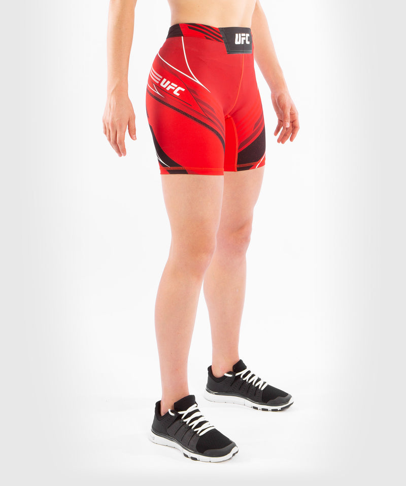 UFC Venum Authentic Fight Night Women's Vale Tudo Shorts - Long Fit – Red Picture 3