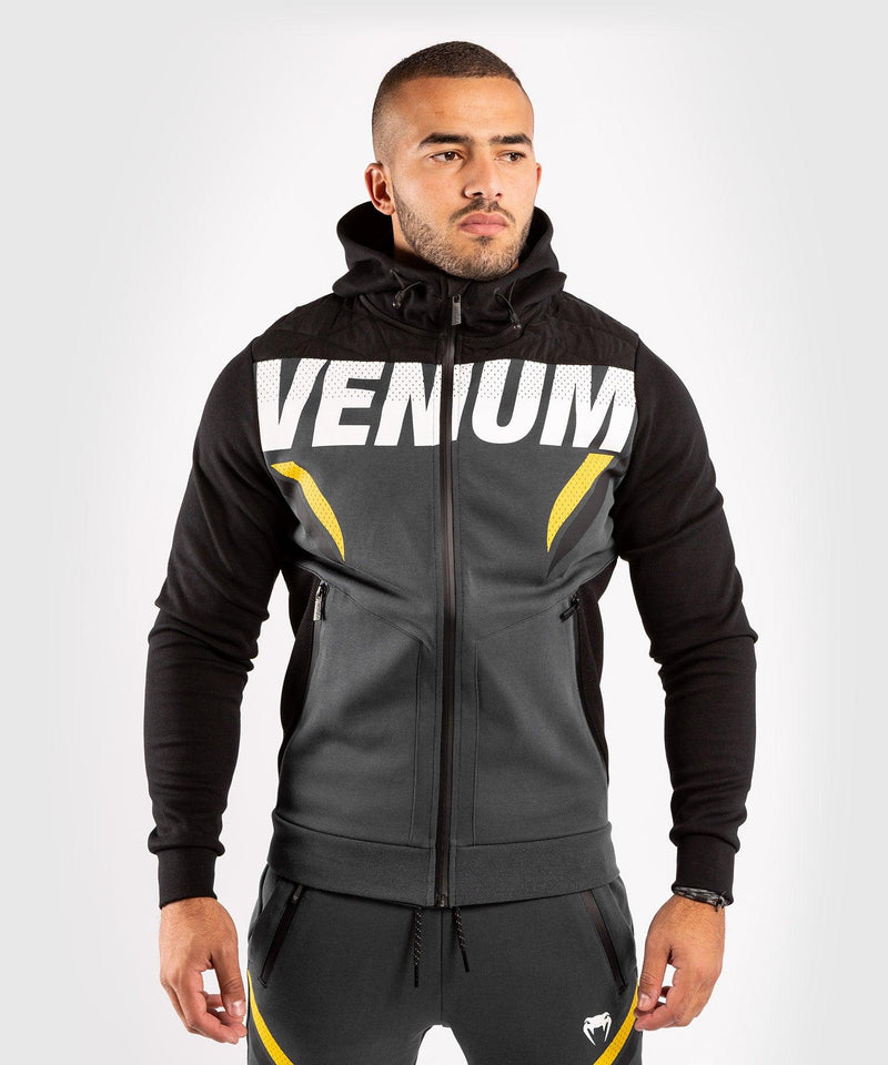 Venum ONE FC Impact Hoodie - Grey/Yellow - picture 1