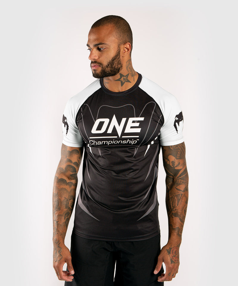 Venum x ONE FC Dry Tech T-shirt - White/Black picture 1