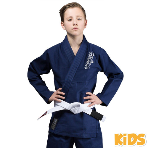 Venum Contender Kids BJJ Gi (Free white belt included) - Navy blue picture 1