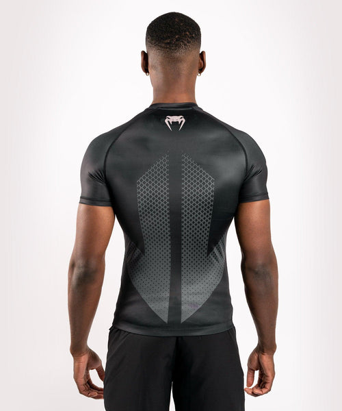 Venum Arrow Loma Signature Collection Short Sleeve Rashguard - Black/White picture 2