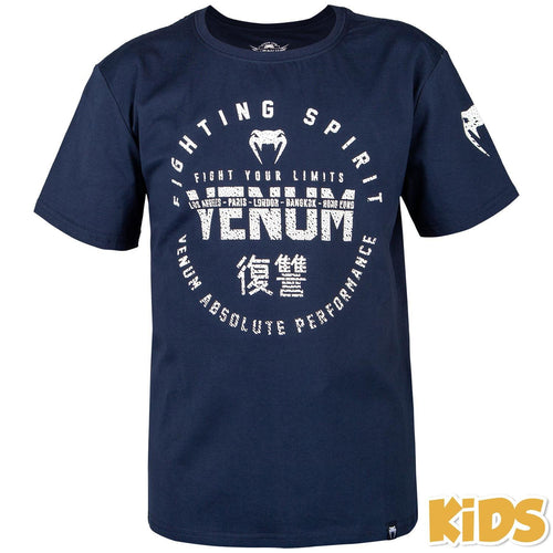 Venum Signature Kids T-shirt - Navy Blue picture 1