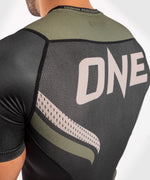 Venum ONE FC Impact Rashguard - short sleeves - Black/Khaki - picture 6