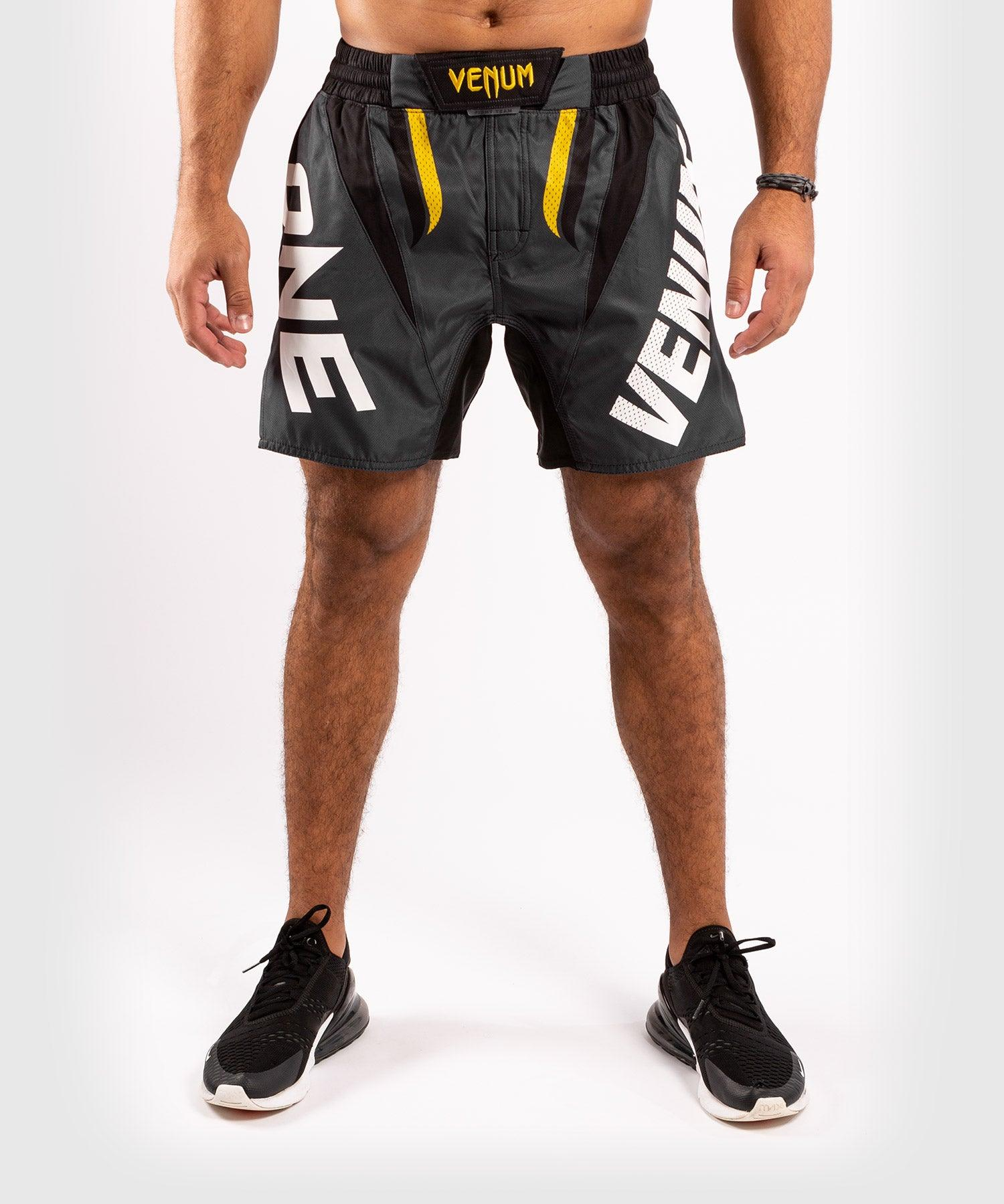 Venum ONE FC Impact Fightshorts - Grey/Yellow - picture 1