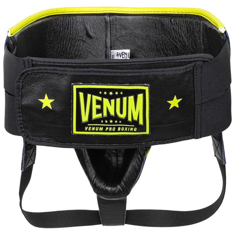 Venum Pro Boxing Protective Cup Loma Edition - Velcro – Blue/Yellow picture 2