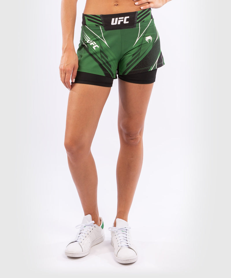 UFC Venum Authentic Fight Night Women's Shorts - Short Fit – Green Picture 1