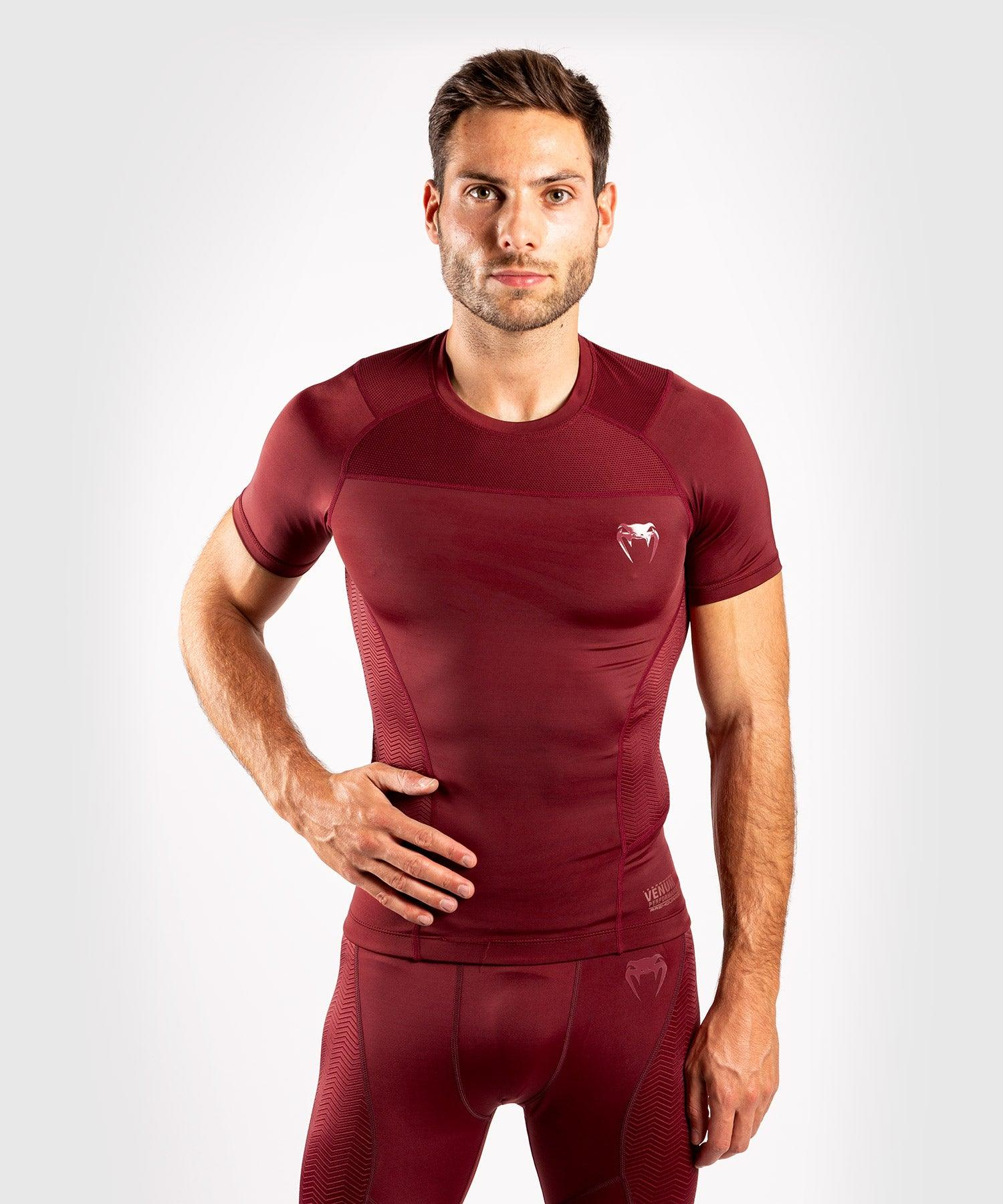 Venum G-Fit Rashguard - Short Sleeves - Burgundy picture 1