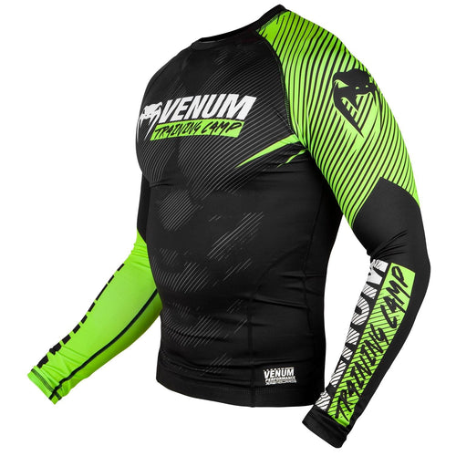 Venum Training Camp 2.0 Rashguard - Long Sleeves - Black/Neo Yellow picture 2