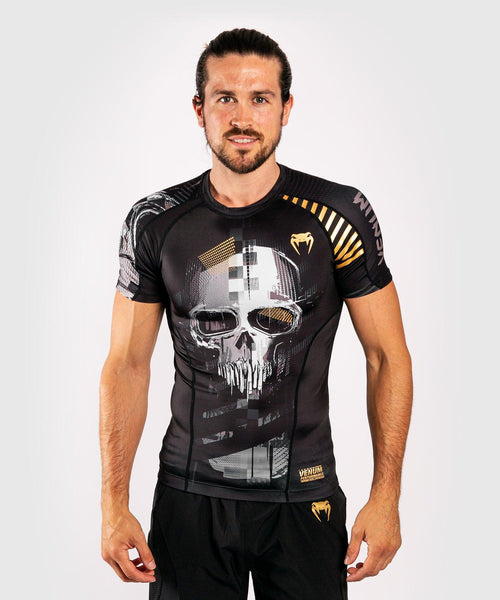 Venum Skull Rashguard - Short sleeves - Black picture 1