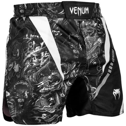 Venum Art Fightshorts – Black/White picture 1