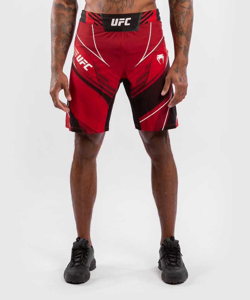 UFC Venum Authentic Fight Night Men's Shorts - Long Fit – Red Picture 1