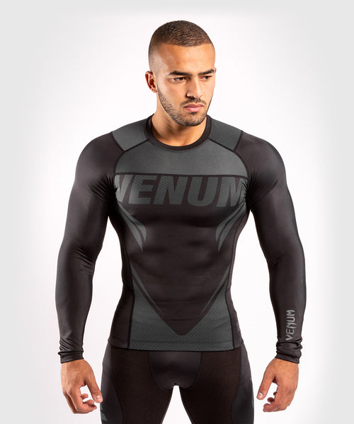 Venum ONE FC Impact Rashguard - long sleeves - Black/Black - picture 1