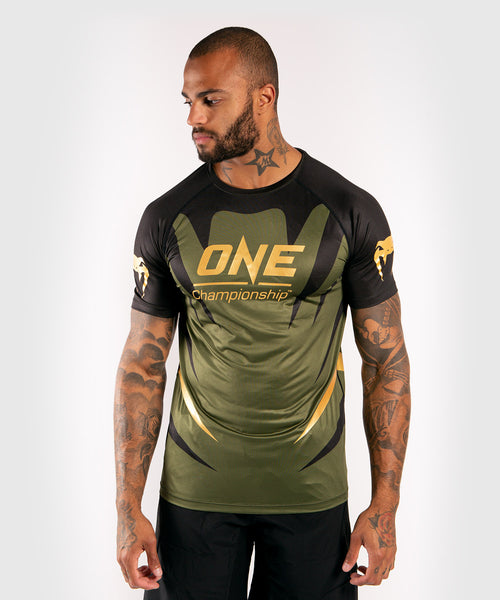 Venum x ONE FC Dry Tech T-shirt - Khaki/Gold picture 1