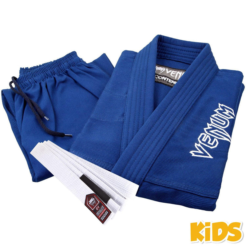 Venum Contender Kids BJJ Gi (Free white belt included) – Blue picture 3