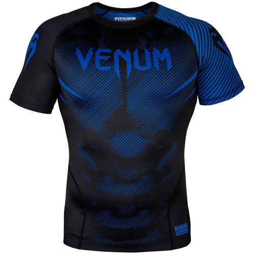Venum NoGi 2.0 Rashguard - Short Sleeves – Black/Blue picture 1