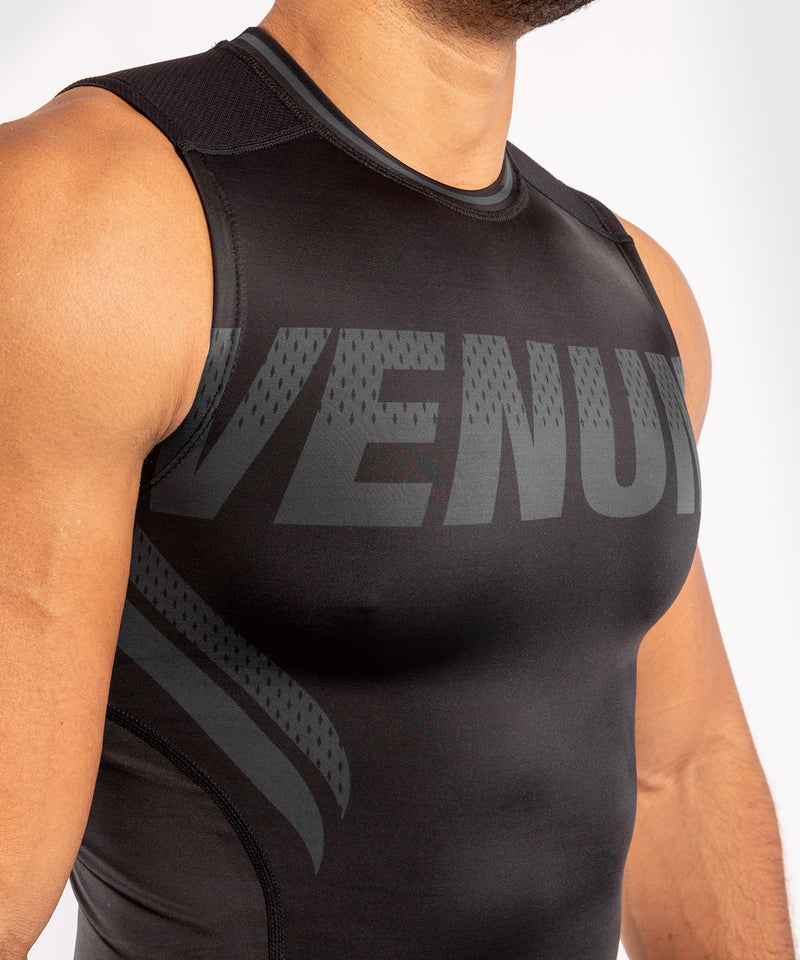 Venum ONE FC Impact Rashguard - sleeveless - Black/Black - picture 5