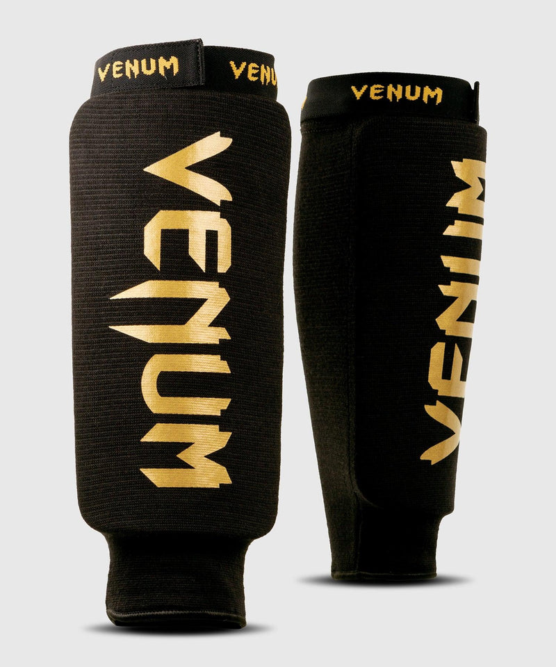 Venum Kontact Shin Guards - without foot - Black/Gold picture 1