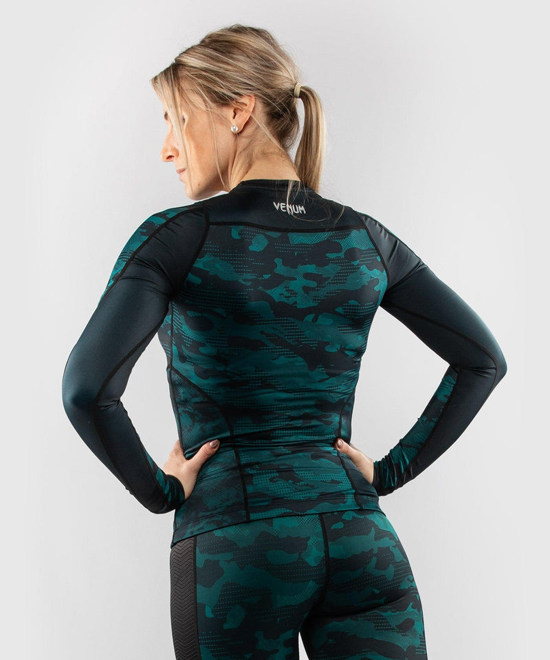 Venum Defender long sleeve Rashguard - for women - Black/Green picture 2