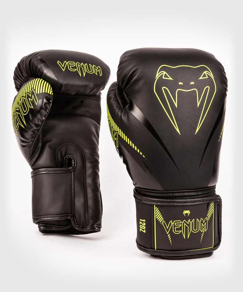 Venum Impact Boxing Gloves - Black/Neo Yellow - picture 1