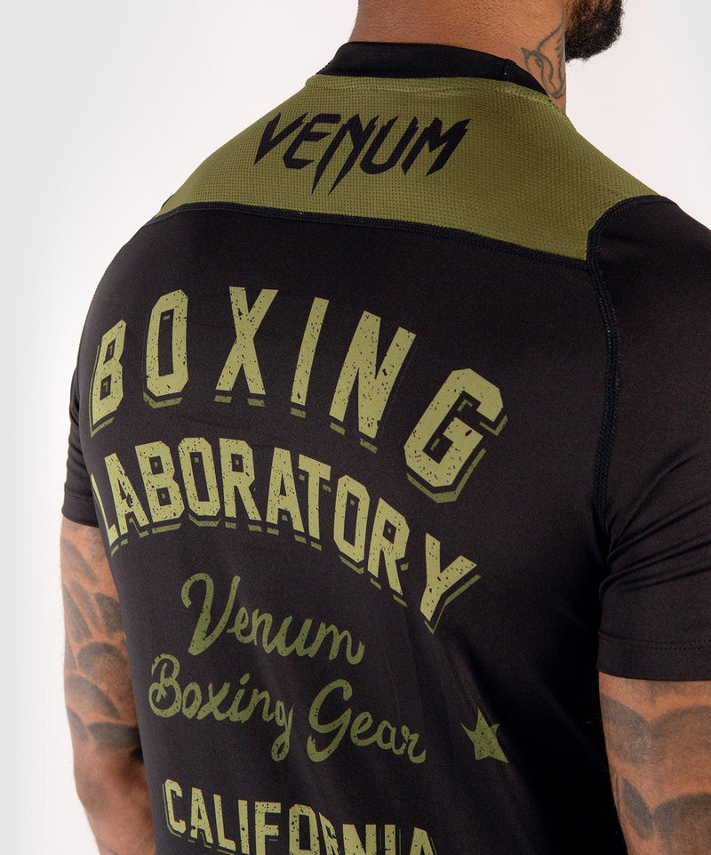 Venum Boxing Lab Dry Tech T-shirt - Black/Green picture 6