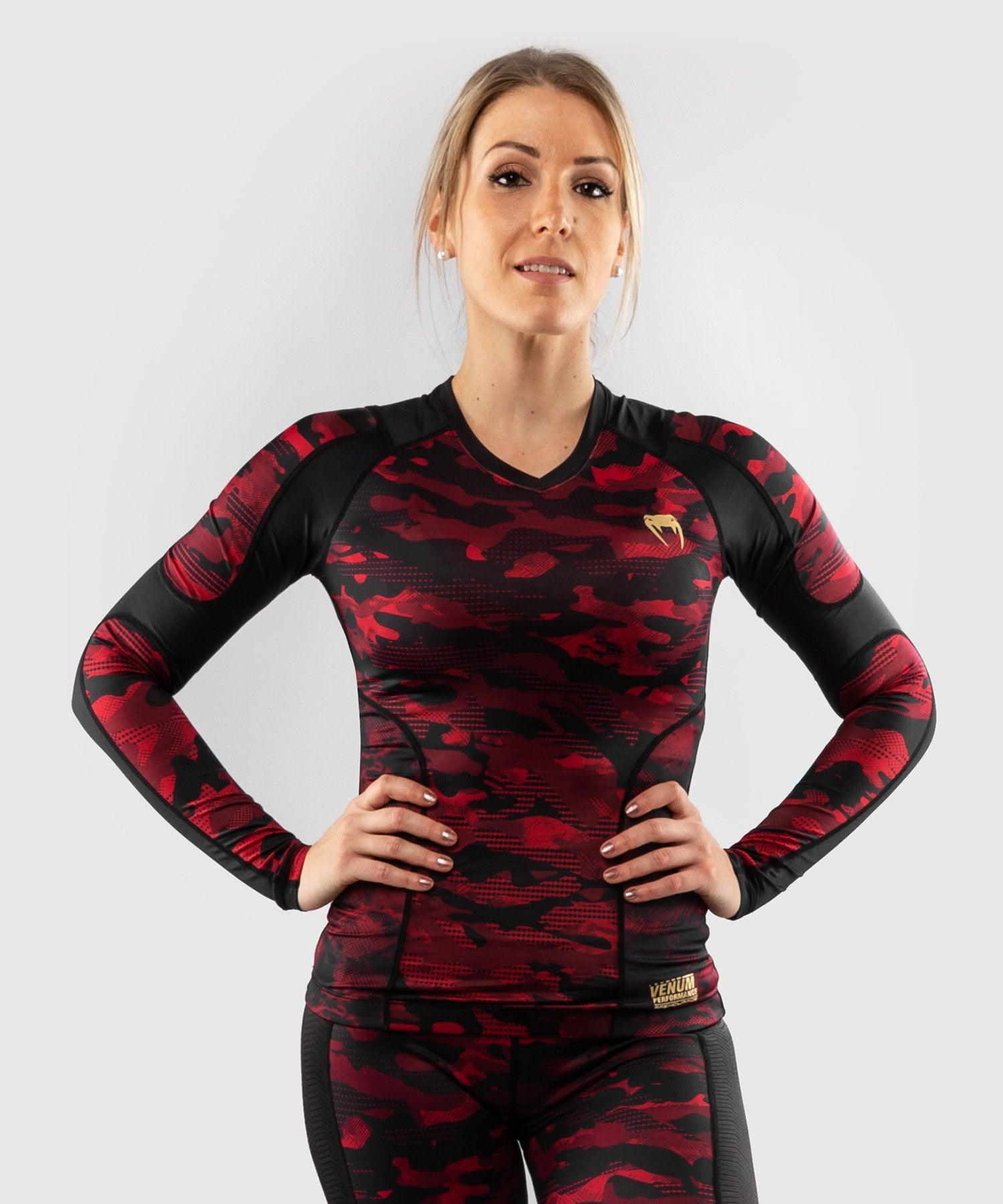 Venum Defender long sleeve Rashguard - for women - Black/Red picture 1