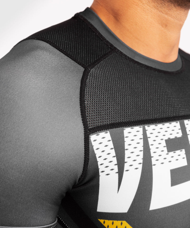 Venum ONE FC Impact Rashguard - short sleeves - Grey/Yellow - picture 6