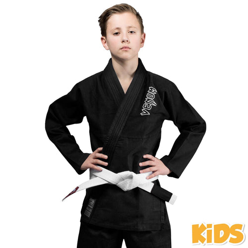 Venum Contender Kids BJJ Gi (Free white belt included) – Black picture 1