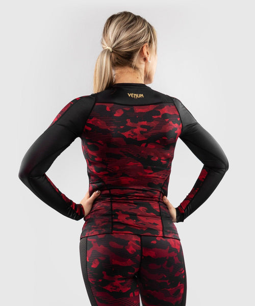 Venum Defender long sleeve Rashguard - for women - Black/Red picture 2