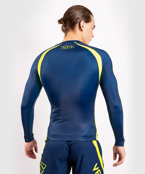 Venum Origins Rashguard long sleeves Loma Edition - Blue/Yellow picture 2