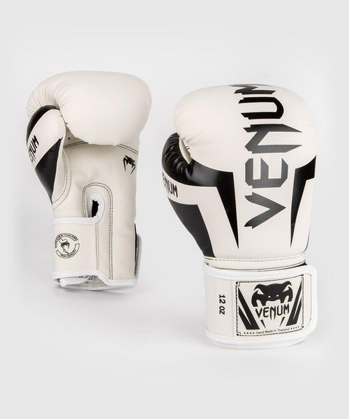 Venum Elite Boxing Gloves – White/Black picture 1