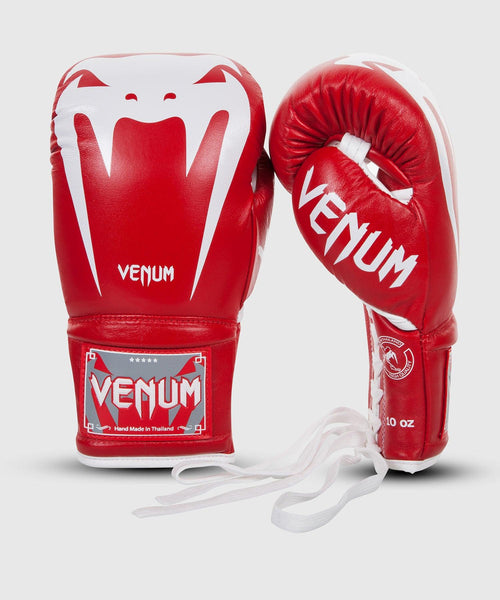 Venum Giant 3.0 Boxing Gloves - Nappa Leather - With Laces - Red picture 1