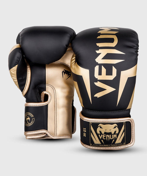Venum Elite Boxing Gloves – Black/Gold picture 2