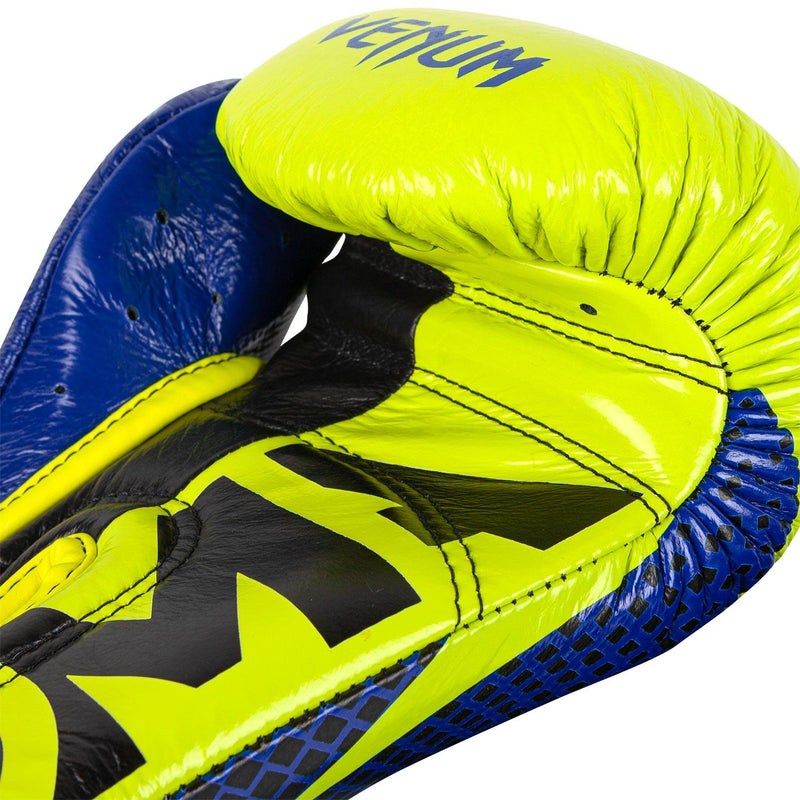 Venum Hammer Pro Boxing Gloves Loma Edition- Velcro – Blue/Yellow picture 4