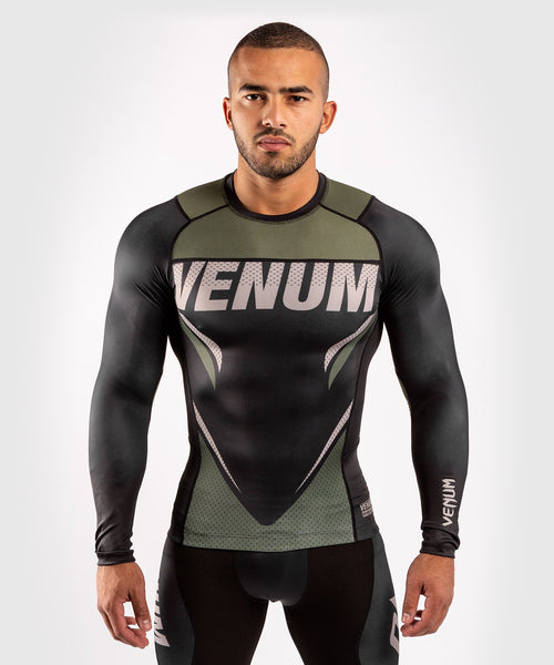 Venum ONE FC Impact Rashguard - long sleeves - Black/Khaki - picture 1