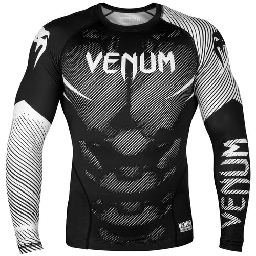 Venum NoGi 2.0 Rashguard - Long Sleeves – Black/White picture 1