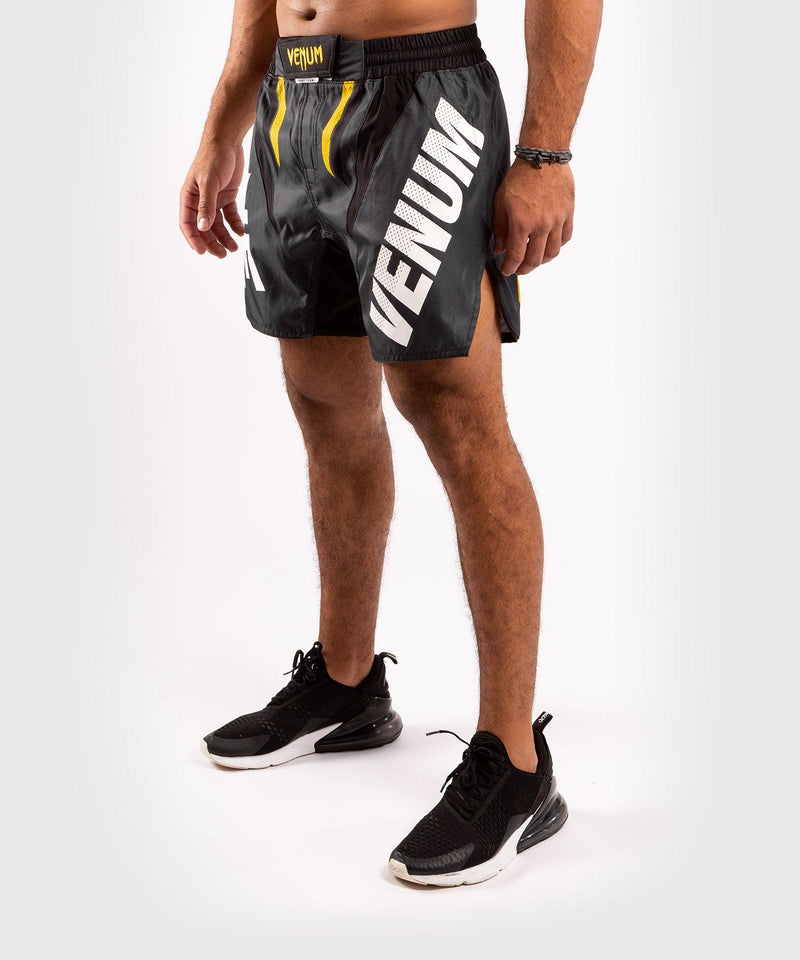 Venum ONE FC Impact Fightshorts - Grey/Yellow - picture 3