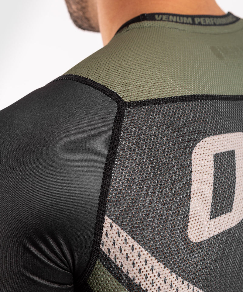 Venum ONE FC Impact Rashguard - short sleeves - Black/Khaki - picture 7