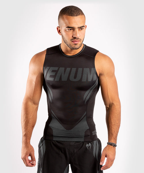 Venum ONE FC Impact Rashguard - sleeveless - Black/Black - picture 1
