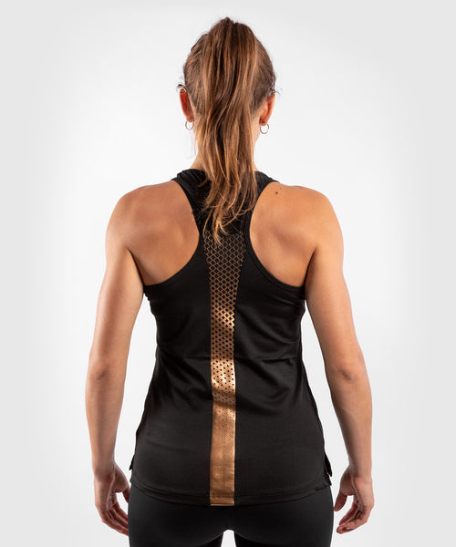 Venum Tecmo Tank Top - For Women - Black/Bronze - picture 2