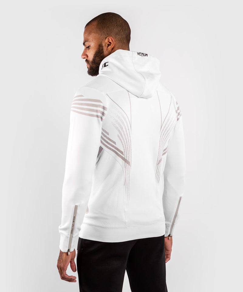 UFC Venum Personalized Authentic Fight Night Men's Walkout Hoodie - White picture 4