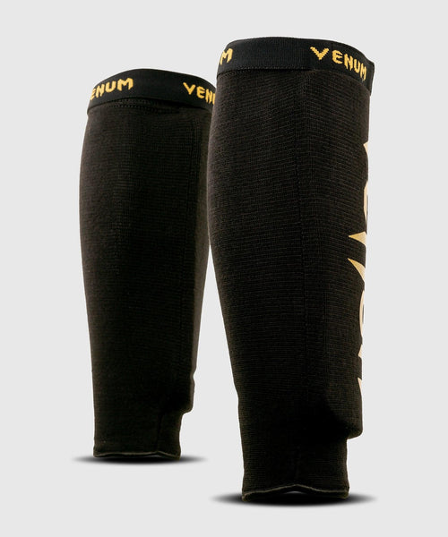 Venum Kontact Shin Guards - without foot - Black/Gold picture 2